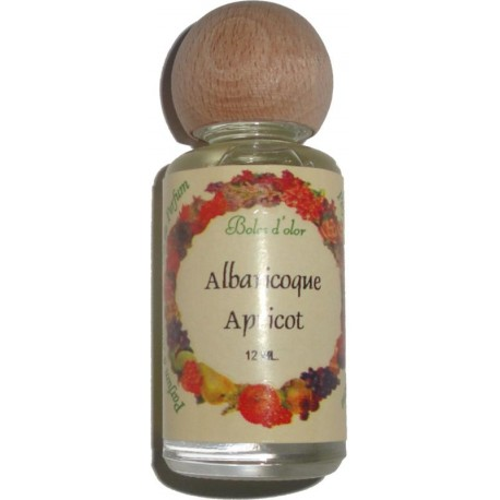 Apricot perfume bottle