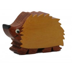 The miniature wood catving Hedgehog - Dolfi unique wooden Gifts - Made in Italy