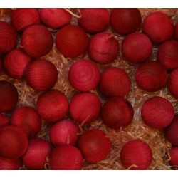 Frutta scolpita in legno profumata fragola