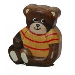 Der kleine Dolfi Holz Teddy Bär, Dolfi Geschenk Ideen für beste Freundin, Holzschnitzereien Gröden
