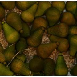 Frutta scolpita in legno profumata pera