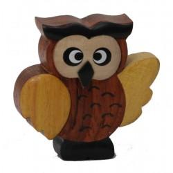 Die kleine Dolfi Holz Eule - die Geschenkidee niedlich und originell für alle Gelegenheiten