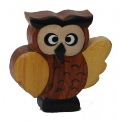 The miniature wooden Owl favor Gift Idea cute original for all Occasions wood Gifts for Her
