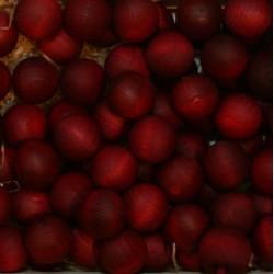 Frutta scolpita in legno profumata santal