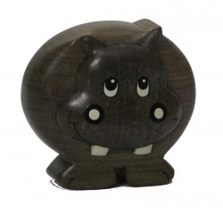 Miniature wooden Hippopotamus - Dolfi personalized wood Gifts for him - Made in Italy