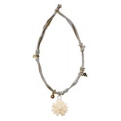 Halskette beige mit Margerite