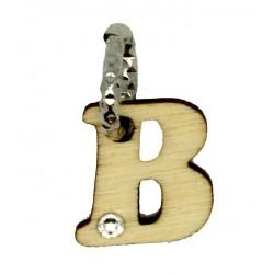 Charm mit Buchstabe B  6 Stück