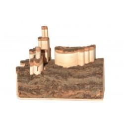 Castello tirolese finemente scolpito in legno nostrano