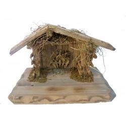 "Capanna "" Stevia"" per figure del presepe da 8-10 cm - Dolfi capanne di natale in legno, Ortisei"