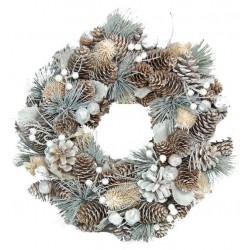 Winter wooden Ornamental Wreath