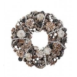 Garland Made of Silver Pine Cones Decorated with Silver Chain - Dolfi Gift Ideas for 12 year old Boy