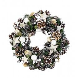 Silver Ornamental natural Wreath