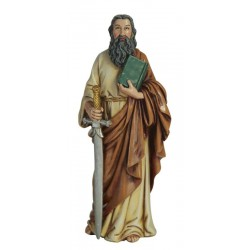 St Paul in Paste of wood - Dolfi Immaculate Heart of Mary Statues for Sale - Made in Italy