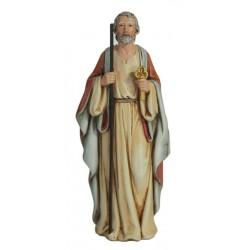 Hl. Petrus aus Holzmaße, Dolfi kleine Kunstharz Skulpturen, diese Kreation ist in Gröden produziert