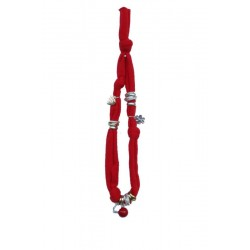 Collana rossa elastica