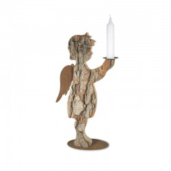 Rustic Wooden Angel candle holder