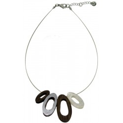 Wooden Necklace Natural-Chic - Dolfi Children'S Wooden Jewellery - Made in Italy