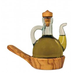 Cruet Holder in Olive wood - Dolfi one year Anniversary Ideas - Made in Italy