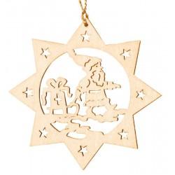 Weihnachtsmann - Dolfi Lesezeichen für Bücher, diese Holzskulptur ist eine edle Grödner Schnitzerei