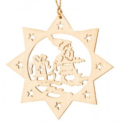 the Santa Claus - Dolfi Laser Cut wood Snowflake Ornaments - Made in Italy