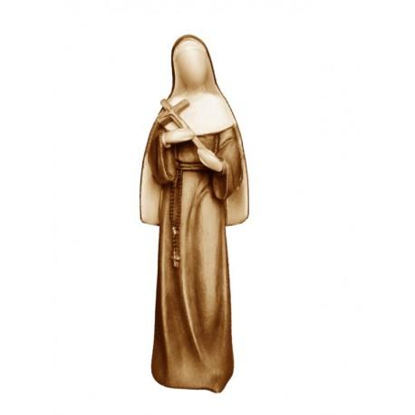 Heilige Rita der Cascia-Statue aus Holz - mehrfach gebeizt