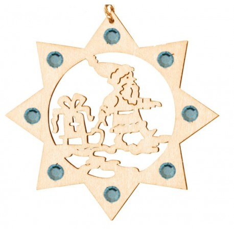 Babbo Natale con cristalli Swarovski