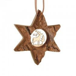 Hanging wooden Star d7cm