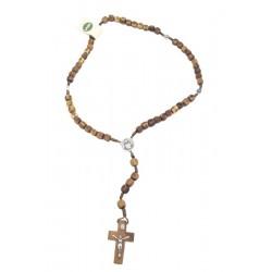 Rosario in legno d'ulivo - Dolfi grani rosario legno, Val Gardena