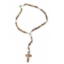 Rosary in Olive wood 14 inch - Dolfi 12 year Anniversary Gift - Made in Italy