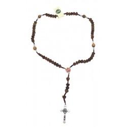 Rosario in legno d'ulivo con cuoricini - Dolfi rosario in legno di ulivo, Alto Adige