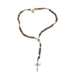 Rosario in legno d'ulivo - Dolfi rosario francescano legno e corda, Castelrotto