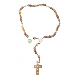 Rosary in holy wood 18 inch