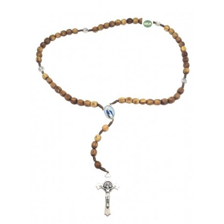 Rosary in Olive wood 18 inch - Dolfi Christening Gifts for Girls - Made in Italy