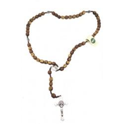 Rosenkranz in Olivenholz; Dolfi Lichtreicher Rosenkranz, diese Kreation ist in Gröden hergestellt