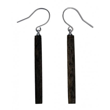 Earrings in wood Natural-Chic