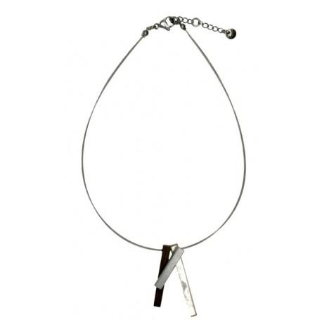 Halskette aus Nussbaum Holz