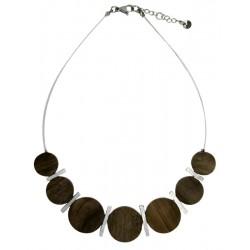 Halskette Holz Handarbeit