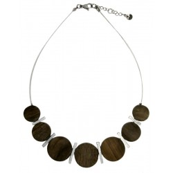 Wooden Necklace Grey