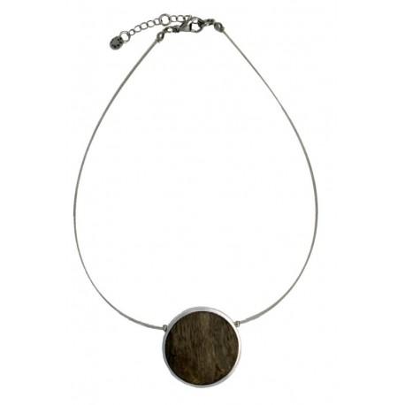 Halskette Schmuck aus Holz
