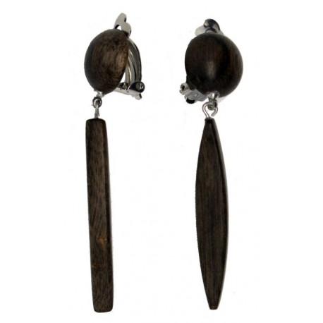 Ohrringe aus edlem Holz
