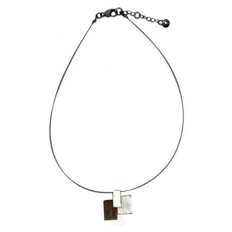 Halskette aus edlem Holz