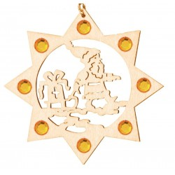 the Santa with Swarovski Crystal - Dolfi Wooden Christmas Ornaments - Made in Italy