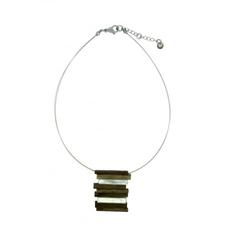 Wooden Necklace Natural-Chic