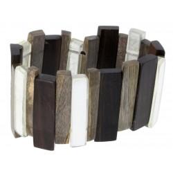 Braccialetto realizzato in legno di noce e madreperla