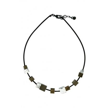 Halskette in Holz 50 cm