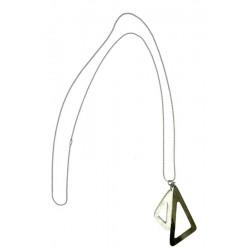 Halskette aus Nussbaum Holz - 60 cm