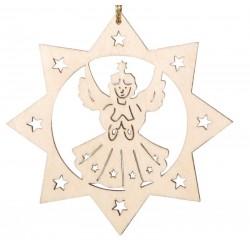 Addobbo a laser con angelo - Dolfi addobbi natalizi in legno fai da te, Val Gardena