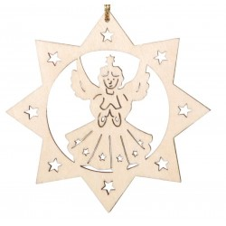 Wood Laser Cut Angel - Dolfi wood Slice Ornaments - Made in Italy