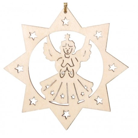 Angelo con decorazione a laser