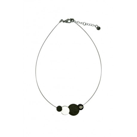 Holz Halskette aus Nussbaum - 50 cm